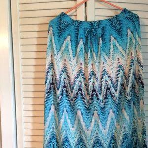Beautiful tie-dyed print skirt